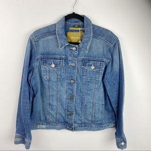 Eddie Bauer Denim Distressed jean jacket